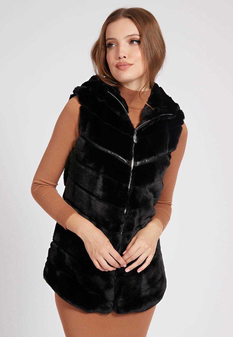 Guess - Waistcoat - schwarz