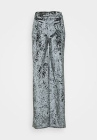 Missguided Petite - CRUSHED BANDEAU AND TROUSER - Pantalones - grey - 3