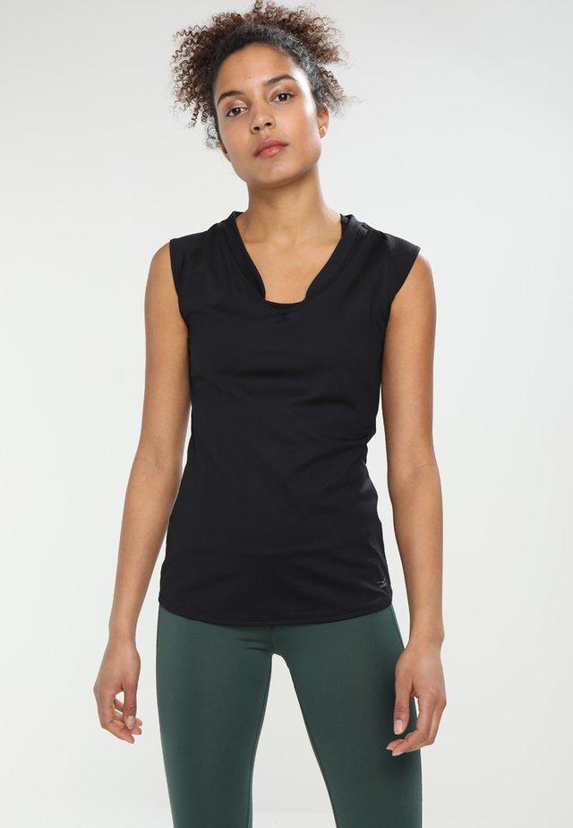 ELEAM - Basic T-shirt - schwarz