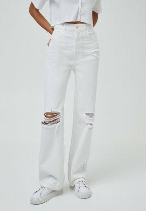 Straight leg jeans - white