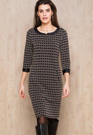 DANILO - Shift dress - schwarz gemustert