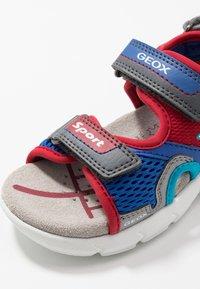Geox - FLEXYPER - Walking sandals - grey/red - 5