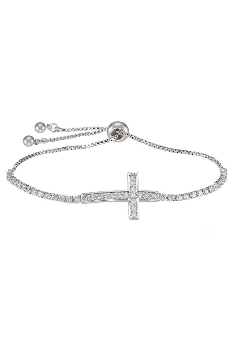 sweet deluxe SLIDING KREUZ - Armbånd - silver-coloured/sølv xDcSouIjDltV5NO