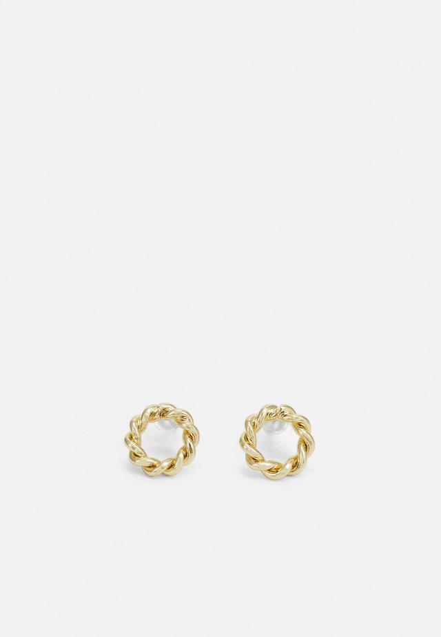 WAY SMALL ROUND EAR PLAIN - Náušnice - gold-coloured
