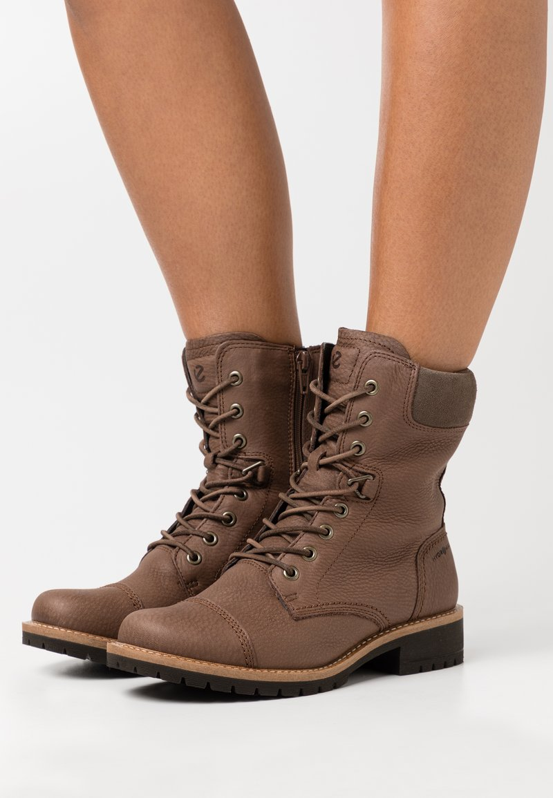 ECCO - ELAINE - Lace-up ankle boots - brown