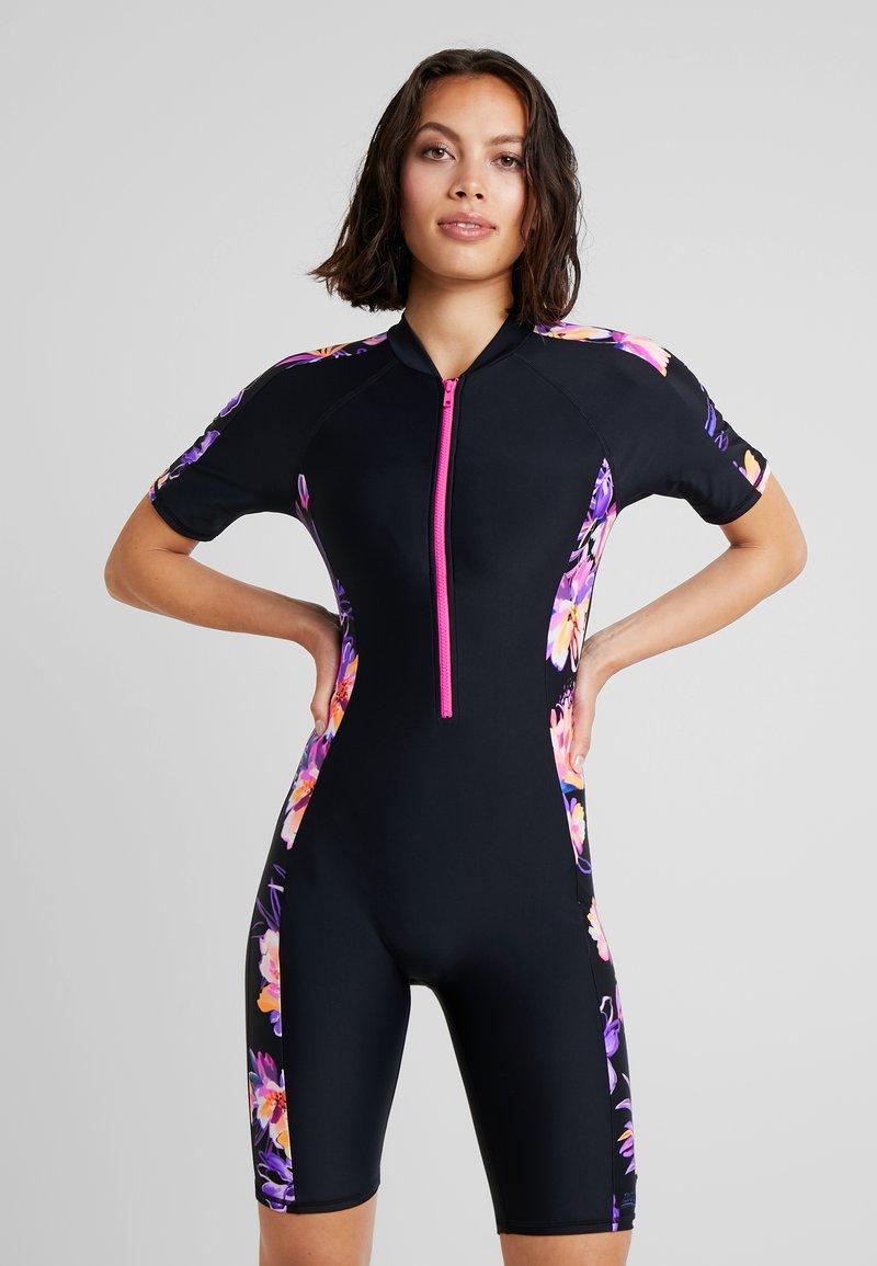 Zoggs - BLOOMSBURY KNEESUIT - Swimsuit - black/multi