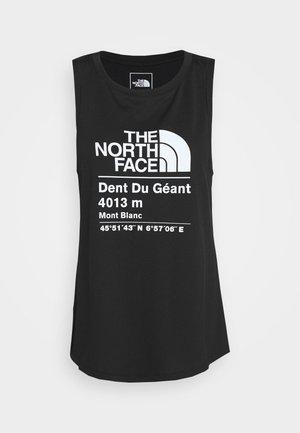 WOMENS GLACIER TANK - Sports shirt - black