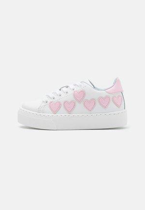 Baskets basses - bianco/rosa