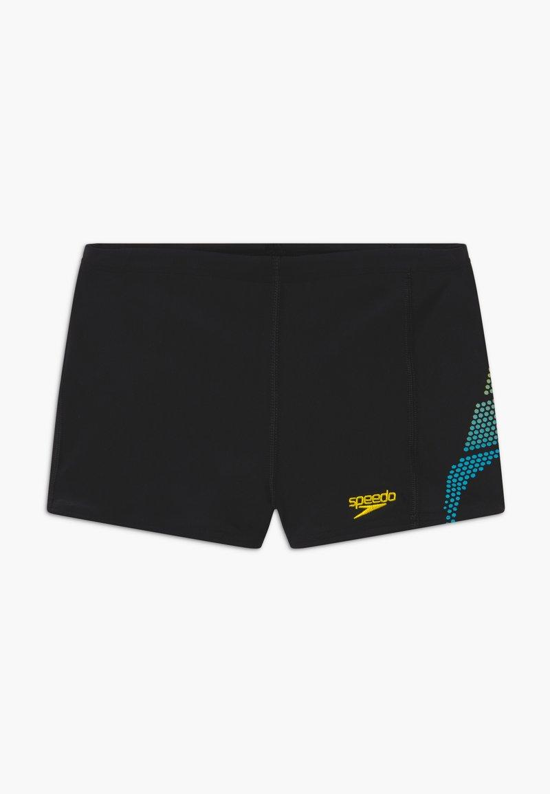 Speedo - Swimming trunks - black/turquoise/empire yellow