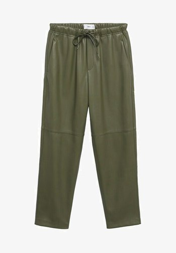 TAILLE ÉLASTIQUE - Trousers - olive