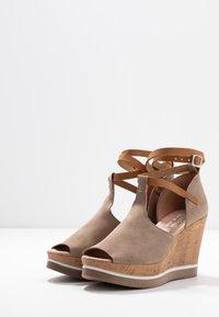 Felmini - MARY - High heeled sandals - taupe - 3