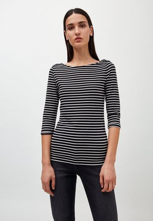 DALENAA - Long sleeved top - black/off white