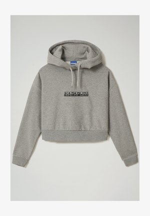 B-BOX CROPPED HOOD - Kapuzenpullover - medium grey melange