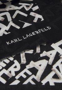 KARL LAGERFELD - GRAFITI SQUARE SCARF - Foulard - black/white - 2