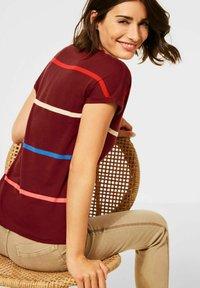 Cecil - MIT STREIFEN - Print T-shirt - braun - 2
