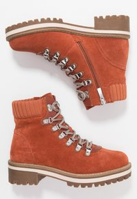 Tamaris - Lace-up ankle boots - rust - 3