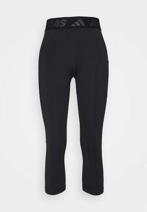 3 BAR TECHFIT AEROREADY TIGHT - 3/4 sports trousers - black/white