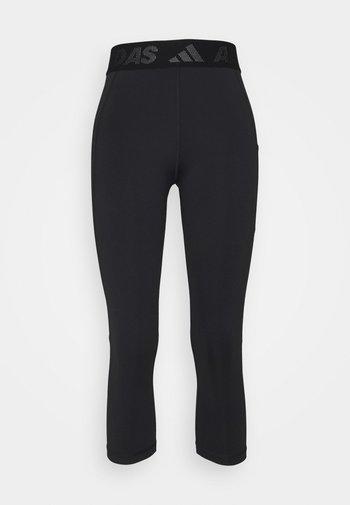 3 BAR TECHFIT AEROREADY TIGHT - Pantaloncini 3/4 - black/white