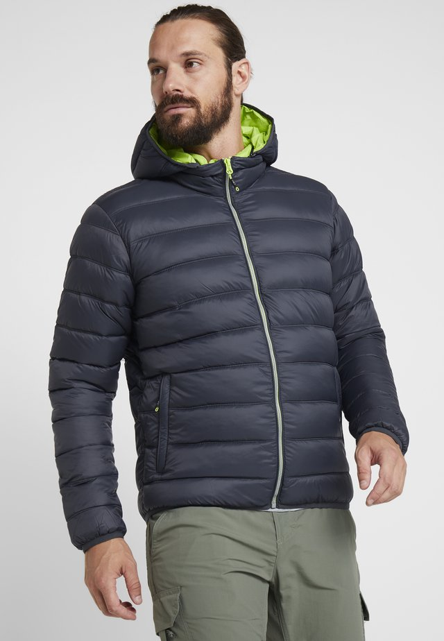 MAN ZIP HOOD JACKET - Zimní bunda - antracite/cedro