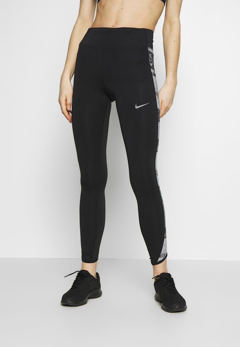 Nike Performance - FAST - Collants - black/reflective silver