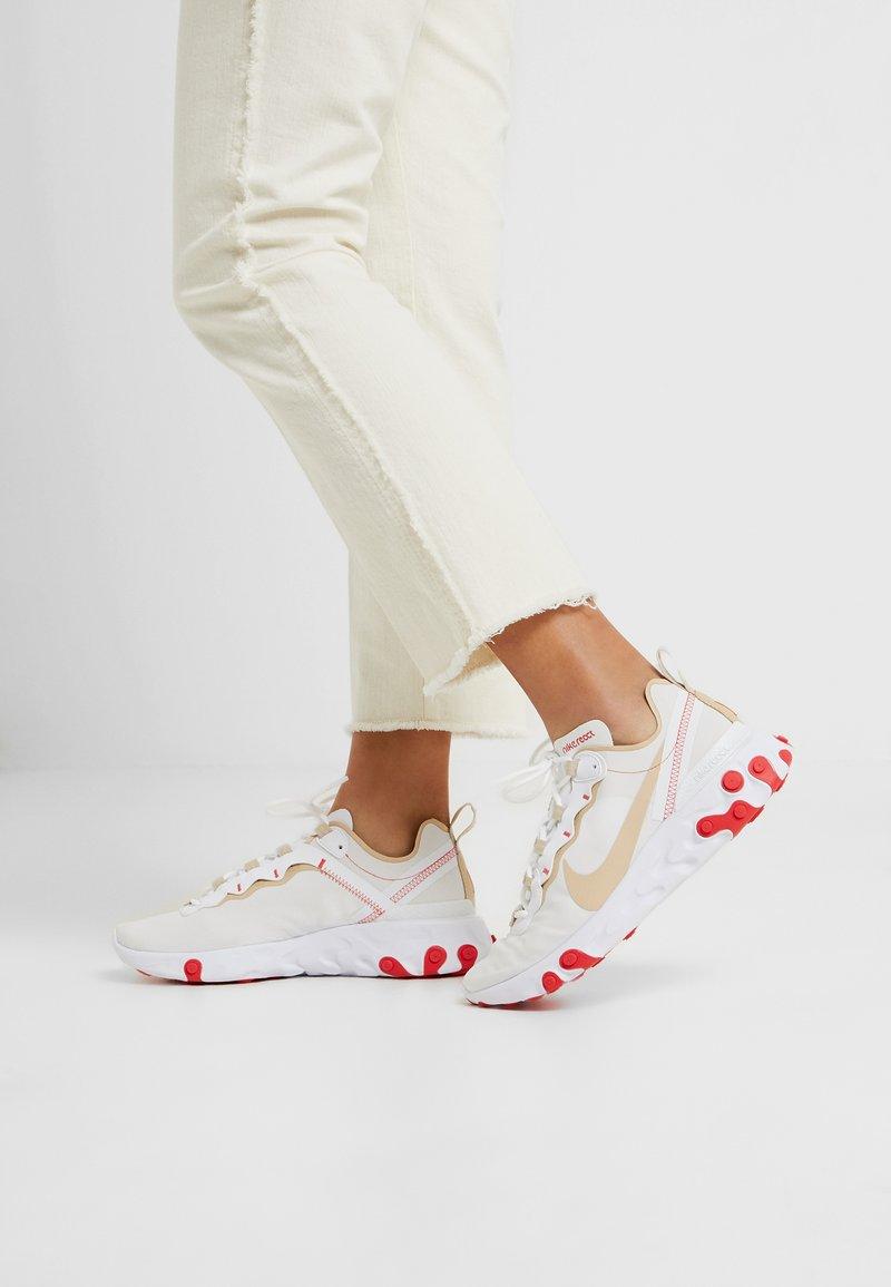 Nike Sportswear - REACT 55 - Trainers - white/desert ore/white/ember glow