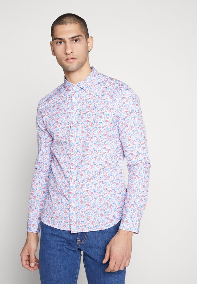 CARTON - Shirt - blanc/fleur bleu