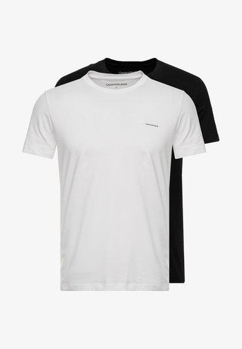 SLIM 2 PACK - Jednoduché triko - bright white/black beauty