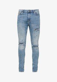 Topman - RIP SPRAY - Jeans slim fit - blue - 3