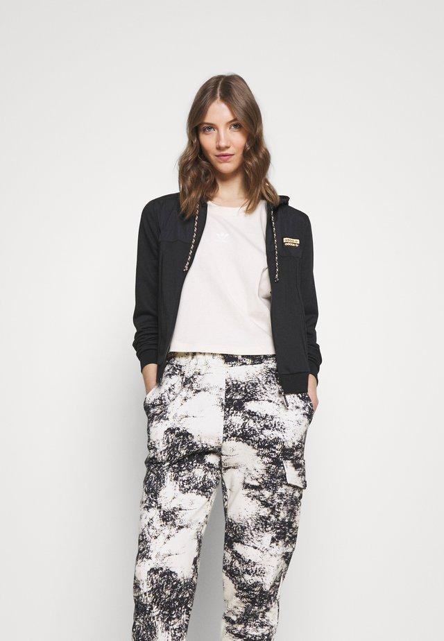 ZIP HOODIE - Bluza rozpinana - black