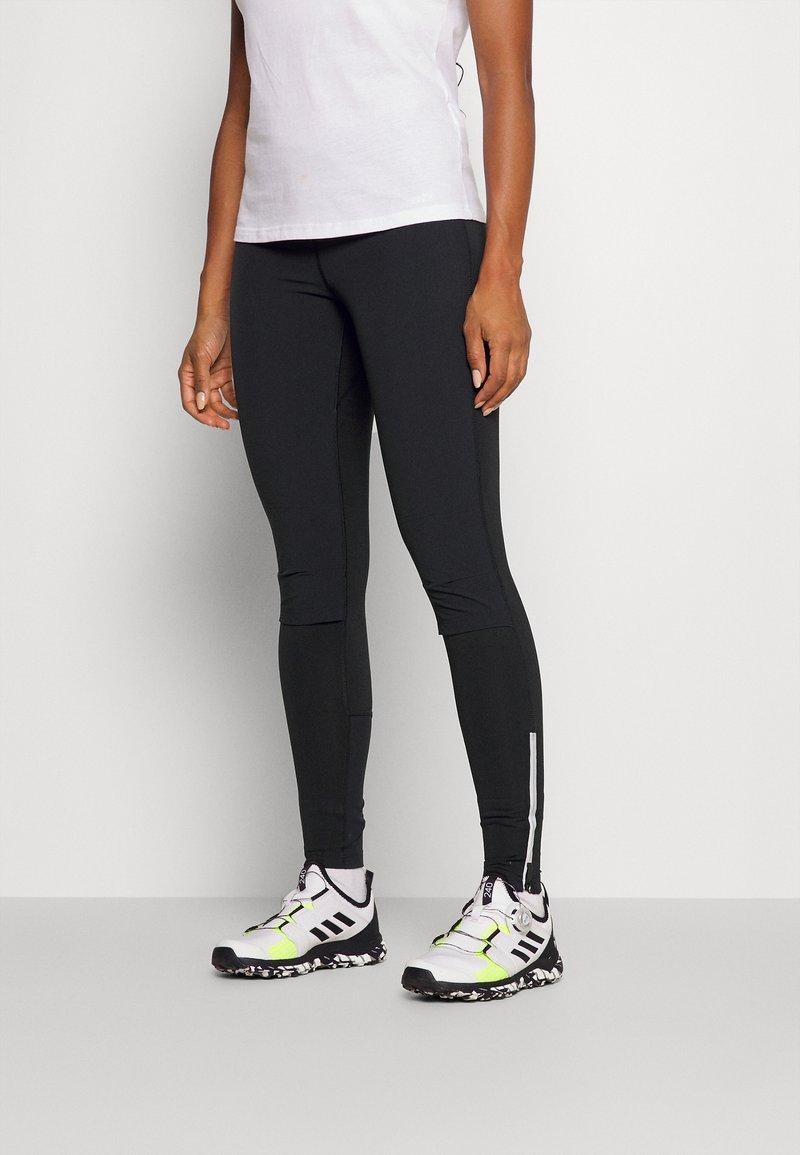 adidas Performance - TERREX AGRAVIC - Tights - black/white