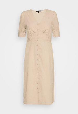 VMKASSANDRA KNEE DRESS - Blusenkleid - beige