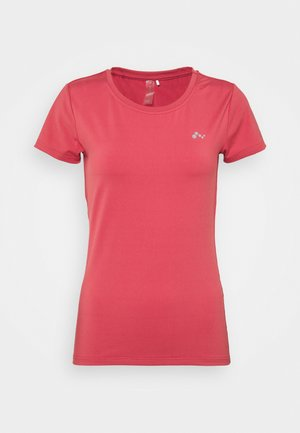 ONPCLARISSA TRAINING TEE - T-shirt basique - holly berry