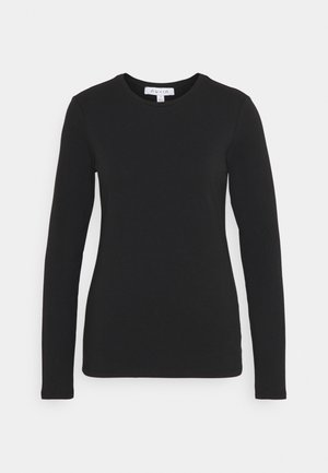 LONG SLEEVE CREW NECK - Top s dlouhým rukávem - black