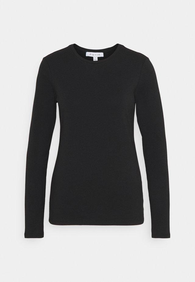 LONG SLEEVE CREW NECK - Langærmede T-shirts - black