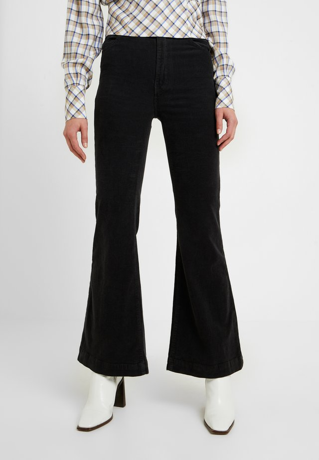 EASTCOAST FLARE - Trousers - black