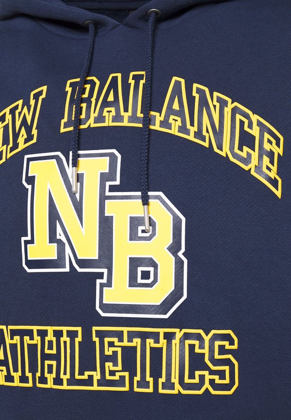 New Balance NB ATHLETICS VARSITY - Bluza z kapturem - natindgo/granatowy Odzież Męska GQPK
