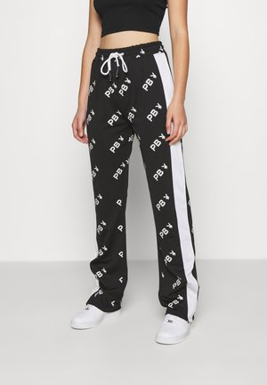 PLAYBOY COLOUR BLOCK TROUSERS - Tracksuit bottoms - black