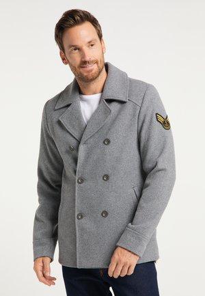 Płaszcz zimowy - hellgrau melange