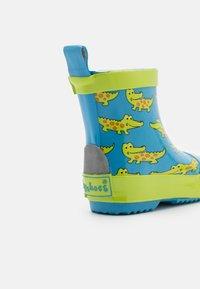 Playshoes - HALBSCHAFT KROKODIL UNISEX - Wellies - blau - 5