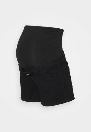 MINI - Denim shorts - black