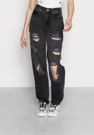 MODERN BOYFRIEND  - Jeans straight leg - black
