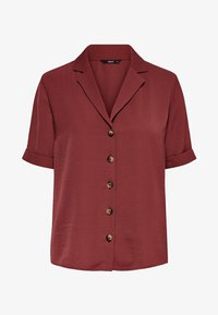 ONLY - Button-down blouse - dark red - 4
