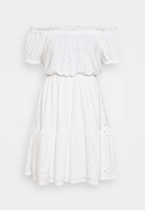 IRJA OFFSHOULDER DRESS - Jerseykjole - offwhite