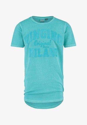 Print T-shirt - sea blue