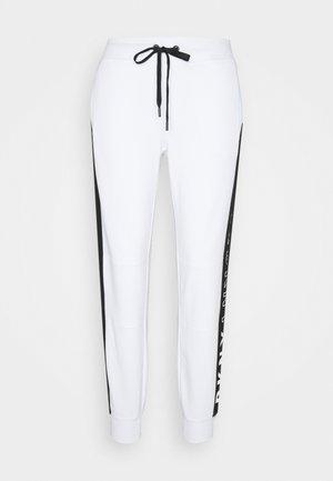 COLORBLOCK JOGGER - Pantalon de survêtement - white