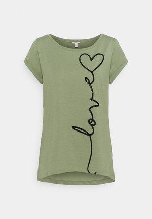 CORE COO - Print T-shirt - light khaki