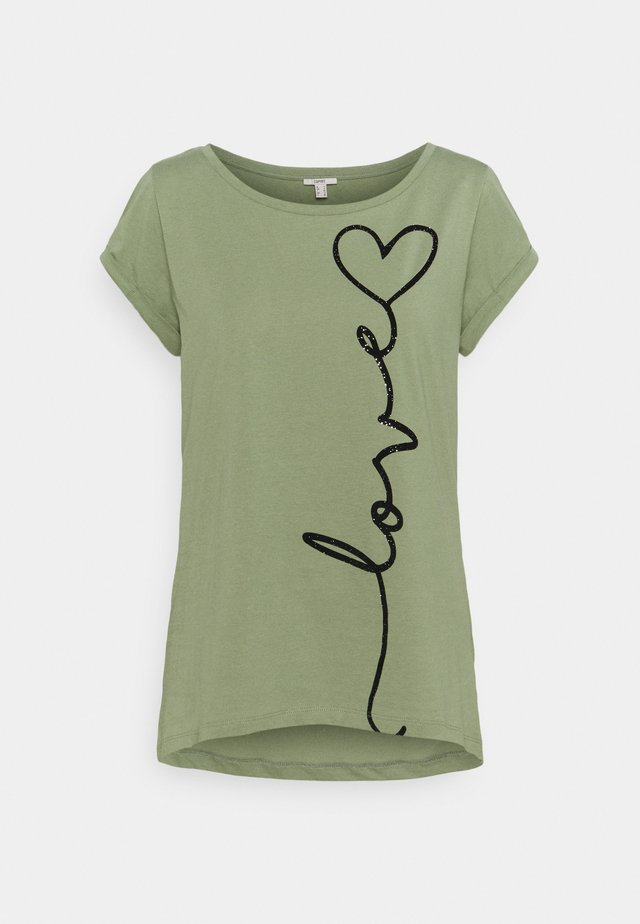 CORE COO - T-shirt print - light khaki