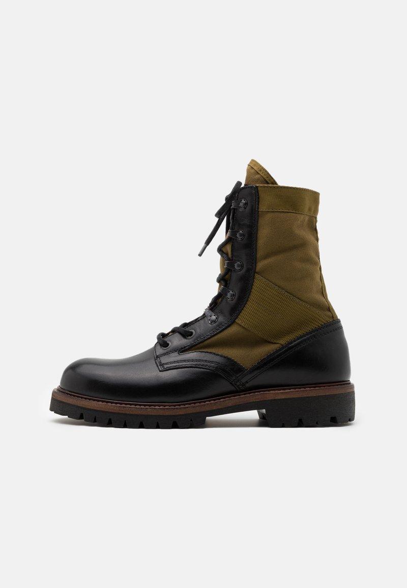 Belstaff - TROOPER BOOT - Šněrovací kotníkové boty - black