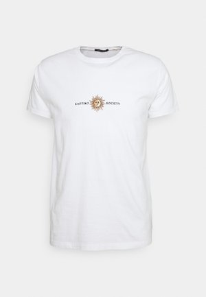SUN WASHED - T-shirt con stampa - white