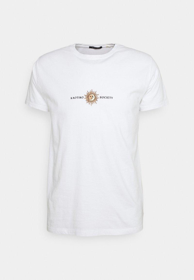 Kaotiko - SUN WASHED - Print T-shirt - white